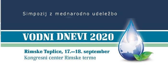 Simpozij Vodni dnevi 2020 na daljavo prek spleta ali osebno v Rimskih Toplicah