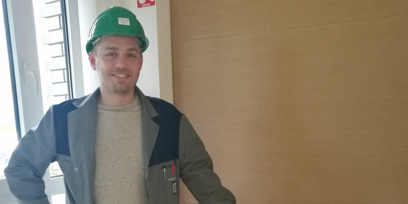 David, student elektroenergetike, stipendist Kolektora