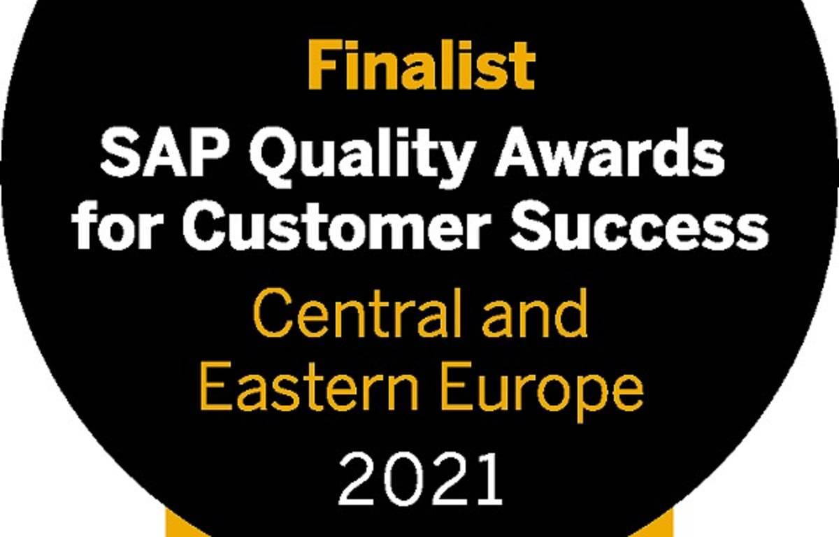 Smo prejemniki nagrade SAP Quality Awards 2021 za Srednjo in Vzhodno Evropo