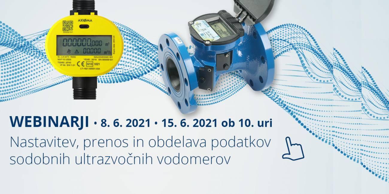 Nova webinarja na temo nastavitev, prenosa in obdelav podatkov sodobnih ultrazvočnih vodomerov